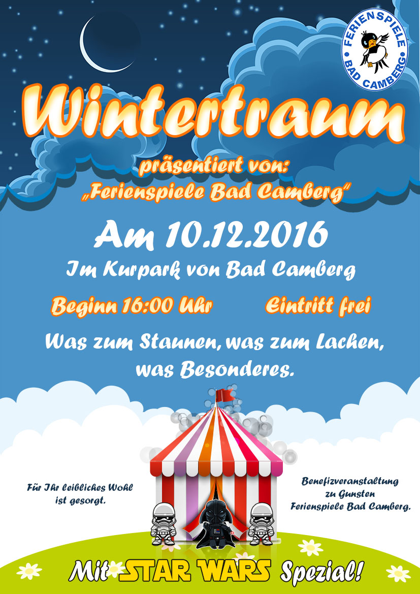 Plakat Benefiz Wintertraum